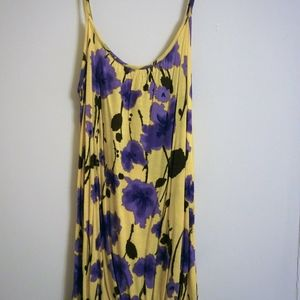 Yellow Cami with purple florals